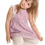 孤立在白色背景上的小女孩 — 图库照片