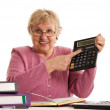 The elderly woman with the calculator — Stock Photo #4976132