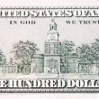 American Hundred dollar banknote isolated over white - ストック写真