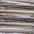 Pile of newspapers close up — Stock Photo #5047494