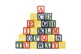 Cubi con le lettere isolato su sfondo bianco — Foto Stock