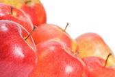 červené jablko izolovaných na bílém pozadí — Stock fotografie