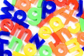 Plastic English letters isolated on white background — Stock Photo