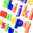 Plastic English letters isolated on white background - Zdjcie stockowe