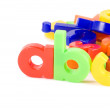 Stock Photo: Plastic English letters isolated on white background