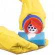 Royalty-Free Stock Photo: Latex Glove and Sponge