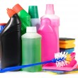 Assortment of means for cleaning isolated — Stock Photo #5269294