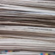 Stock Photo: Pile of newspapers close up