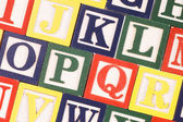 Cubes with letters close up — Stock Photo