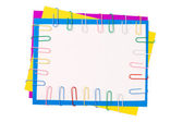Colour paper with a paper clip — Stock Photo