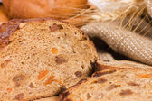 Fresh bread with ear of wheat — Стоковое фото