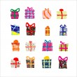 Set gift box - Stock Vector