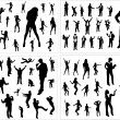 Royalty-Free Stock Vector Image: Set of silhouettes