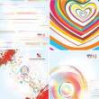 Stylish backgrounds on different topics — Stock Vector