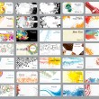 Business cards on different topics - Imagens vectoriais em stock