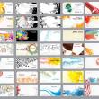 さまざまなトピックに関するビジネス カード — ストックベクタ