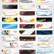 Vector de stock : Set elegance and universal banners. Vector.