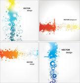 Set abstract Illustration — Stock Vector