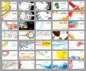 Cartões de visita em diferentes tópicos — Vetorial Stock