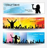 Banner pubblicitari — Vettoriale Stock
