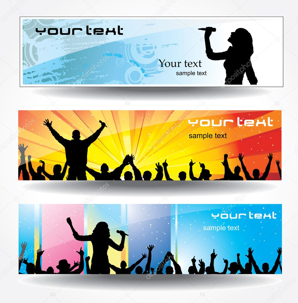 Advertising banners — Stock Vector #5063520