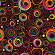 Seamless fashionable background from circles - Stok Vektr
