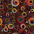 Seamless fashionable background from circles - Image vectorielle