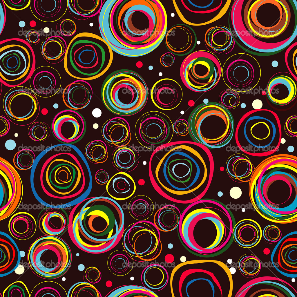 Seamless fashionable background from circles  Vektorgrafik #5319321