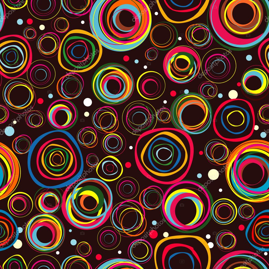 Seamless fashionable background from circles  Grafika wektorowa #5319321