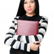 The business woman with documents - Stock Photo