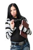Podnikání žena s dokumenty — Stock fotografie