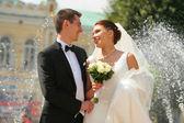 Braut und Bräutigam — Stockfoto