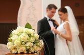Nyligen gift par — Stockfoto