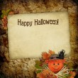 Card for the holiday with autumn leaves — Stock Photo #4004481