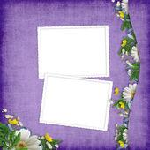 假期与抽象背景上的鲜花卡 — 图库照片