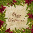Card for the holiday with branches and flower — Foto Stock