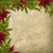 Card for the holiday with branches and flower on the abstract ba — Stok fotoğraf