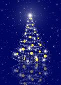 Dalları ve çam ağacı üzerinde mavi bac ile tatil için kart — Stok fotoğraf