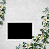 Scheda per la vacanza con fiori sullo sfondo astratto — Foto Stock