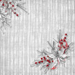 Card for the holiday with branches on the abstract background — Foto Stock