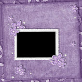 Card from flowers and pearl on the abstract background — Stock Photo