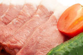 Meat and vegetables — Stock Photo
