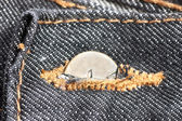 Denim button — Stock Photo