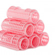 Pink hair rollers — Stock Photo