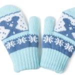 Baby mittens — Stock Photo