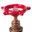 Red valve - Stock Photo