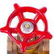 Red valve — Stock Photo