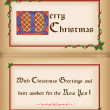Royalty-Free Stock Vector Image: Old Christmas card, congratulations. Two sides.
