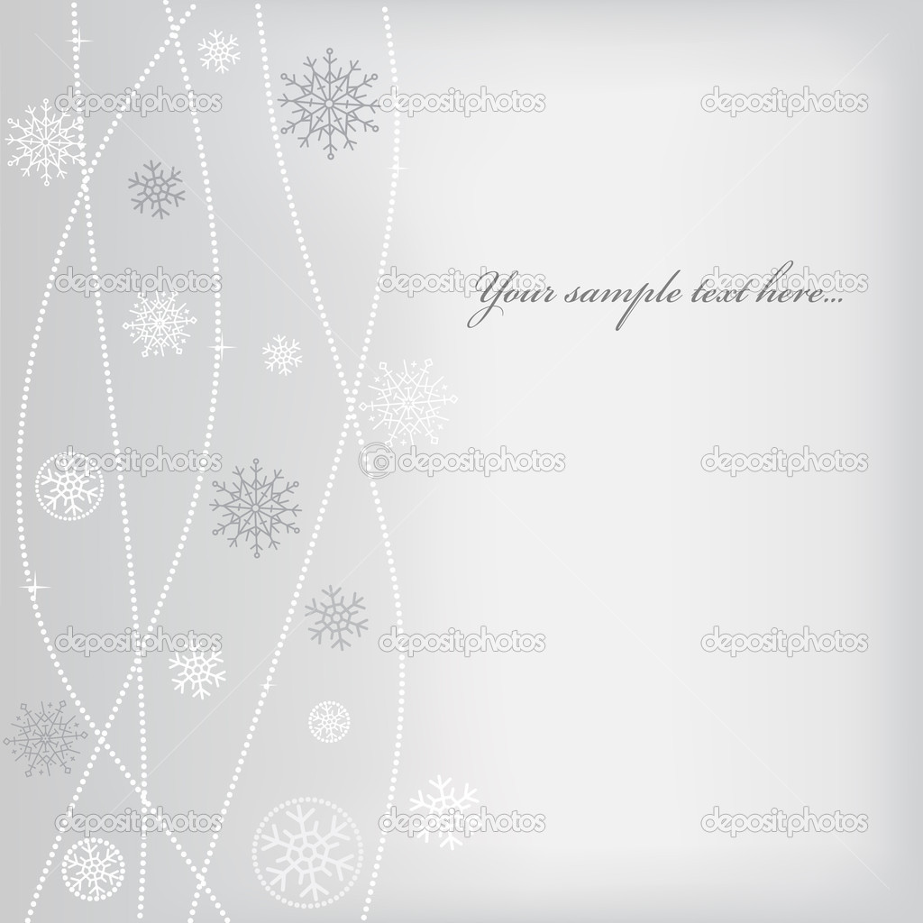 Christmas (New Year) design with snowflake. Space for text — Imagen vectorial #4535294