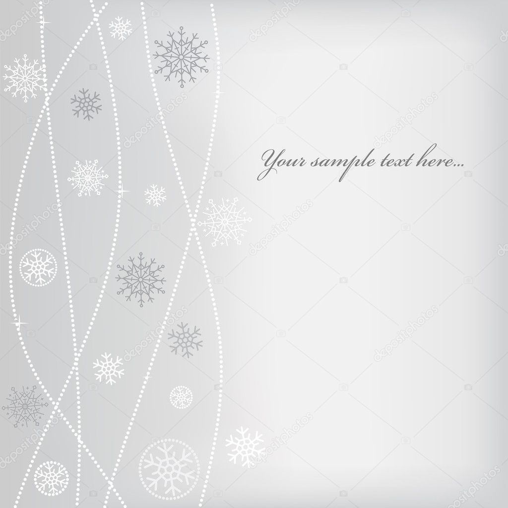Christmas (New Year) design with snowflake. Space for text — Stok Vektör #4535294
